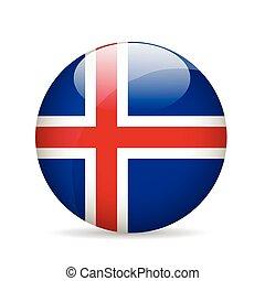 Flag of Iceland. Vector illustration.
