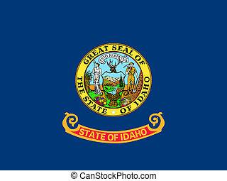 Flag of Idaho correct size color illustration - Idahoan...