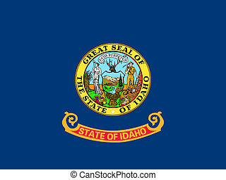 Flag of Idaho correct size color illustration