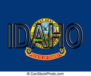 Flag of Idaho Word - Illustration of the flag of Idaho state...
