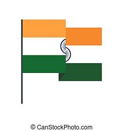 Flag of India icon, flat style