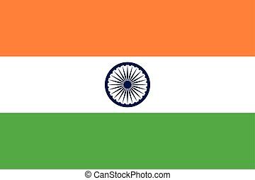 Flag of India in correct proportions and colors