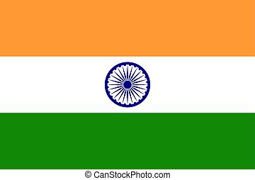 Flag of India in national colors, vector.