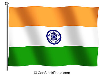 Flag of India waving