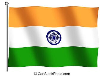 Flag of India waving