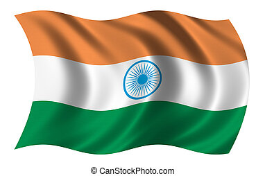 Flag of India waving in the wind