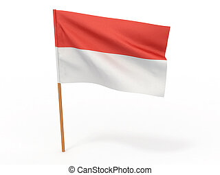flag of Indonesia. 3d
