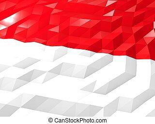 Flag of Indonesia 3D Wallpaper Illustration
