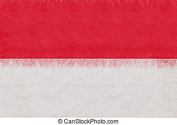 Flag of Indonesia Grunge