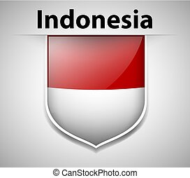 Flag of Indonesia on badge
