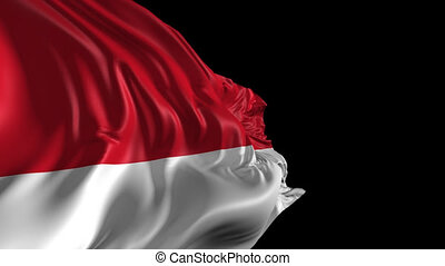 Flag of Indonesia - Beautiful 3d animation of Indonesia flag...