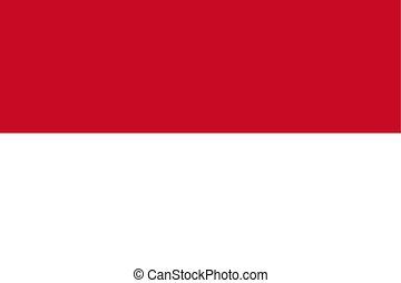 Flag of Indonesia, vector illustration