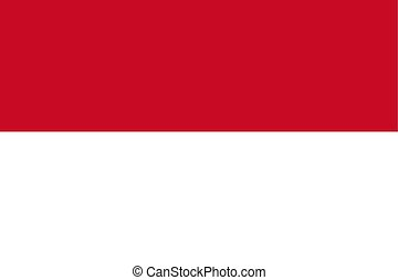 Flag of Indonesia, vector illustration