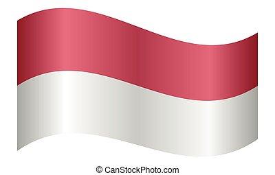 Flag of Indonesia waving