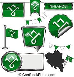 Flag of Innlandet, Norway