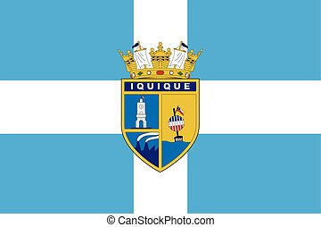 Flag of Iquique, Chile. Vector Format