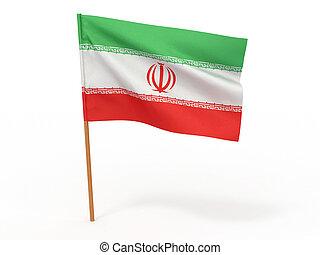 flag of Iran. 3d