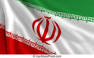 Flag of Iran - A flag of Iran in the wind
