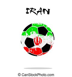 Flag of Iran as an abstract soccer ball