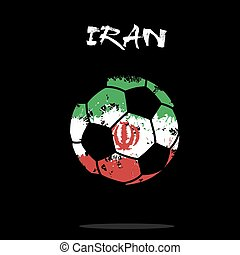 Flag of Iran as an abstract soccer ball