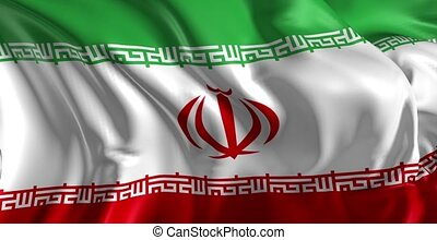 Flag of Iran - Beautiful 3d animation of Iran flag in loop...