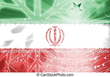 Flag of Iran, national country symbol illustration christmas holidays season