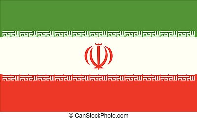 Flag of Iran in official rate and colors, vector
