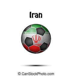 Flag of Iran in the form of a soccer ball