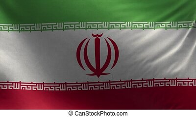 Flag of Iran Loop 3D