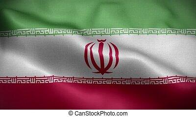 Flag of Iran Loop 3D