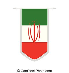 Flag of Iran on a banner
