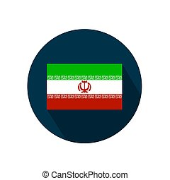 Flag of Iran on a white background. Vector illustration.