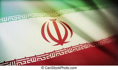 Flag of Iran Realistic 3D