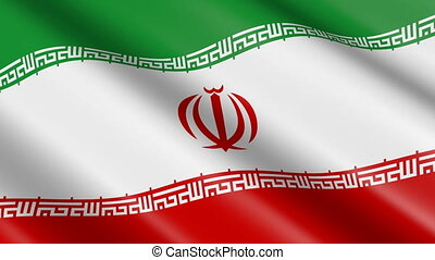 Flag of Iran (seamless loop)