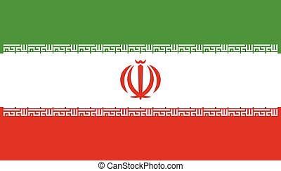 Flag of Iran. Vector illustration. World flag