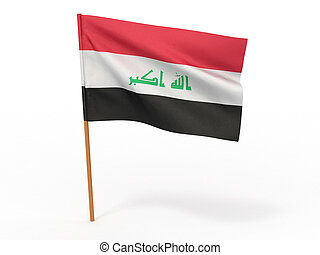 flag of Iraq. 3d