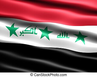 Flag of Iraq (before 2008) - Computer generated illustration...
