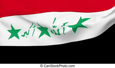 Flag of Iraq - Flag of the Iraq waving in the wind. Seamless...
