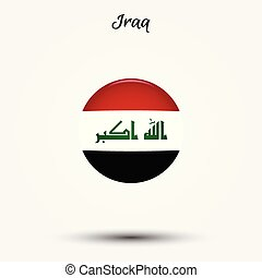 Flag of Iraq icon. Vector illustration. World flag