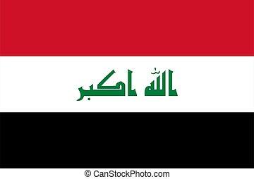 Flag of Iraq Vector illustration