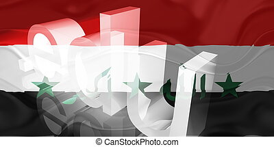 Flag of Iraq wavy education - Flag of Iraq, national country...