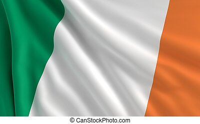 Flag of Ireland - A flag of Ireland in the wind