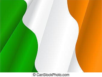 Flag of Ireland for design as a background or texture