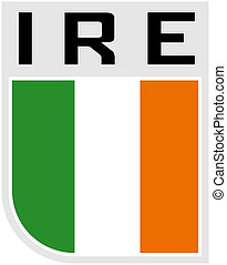 Flag of Ireland icon - Illustration an icon of the Flag of...