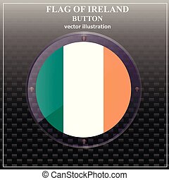 Flag of Ireland. Illustration.