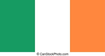Flag of Ireland in national colors, vector.