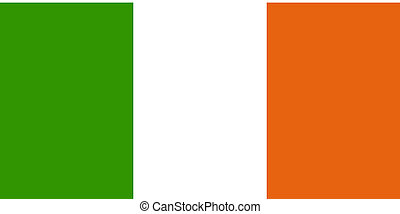 Flag of Ireland, national country symbol illustration