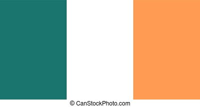 Flag of Ireland (official colors)