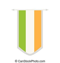 Flag of Ireland on a banner