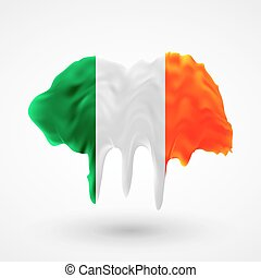 Flag of Ireland painted colors